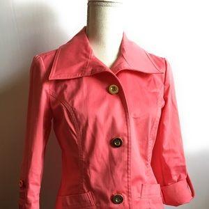 Charter club petite/plt pink blazer, gold buttons